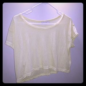 Forever 21 cotton yellow boxy top